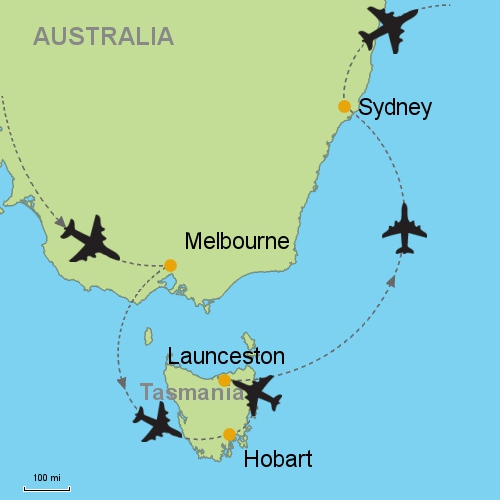 how to call tasmania from melbourne